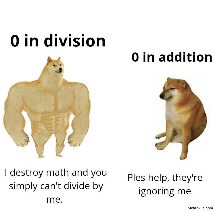 0 in division vs 0 in addition meme
