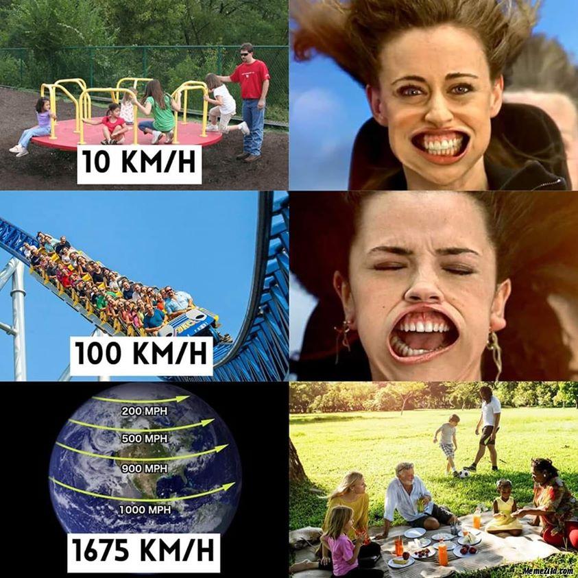 10 KMH 100 KMH 1675 KMH meme