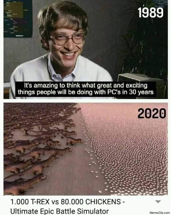 1000 T-rex vs 80000 chickens Ultimate epic battle simulator meme