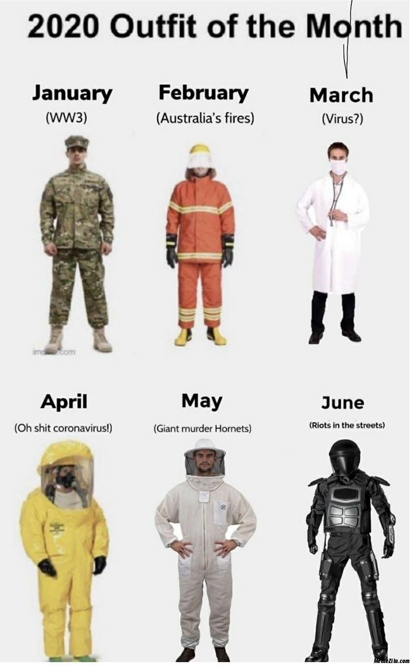 2020 outfit of the month meme