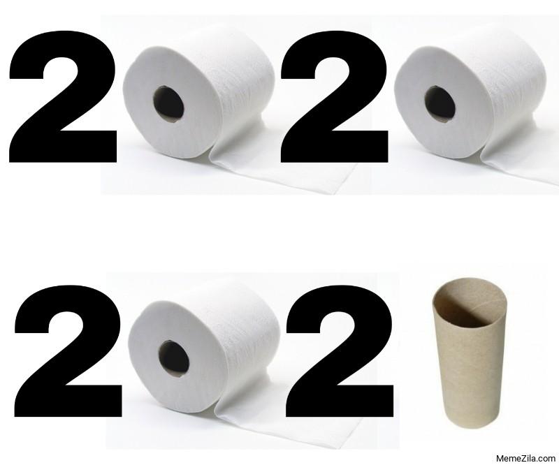 2020 vs 2021 Toilet paper meme