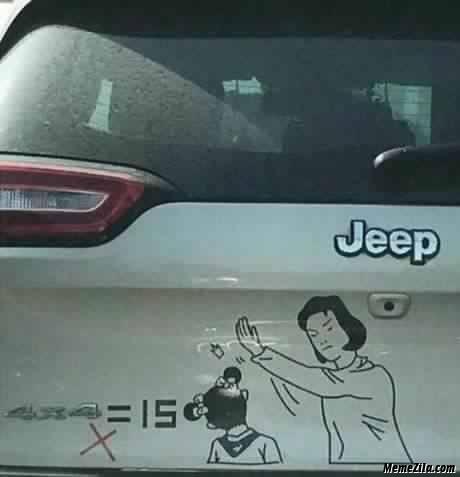 4x4=15 Jeep Meme