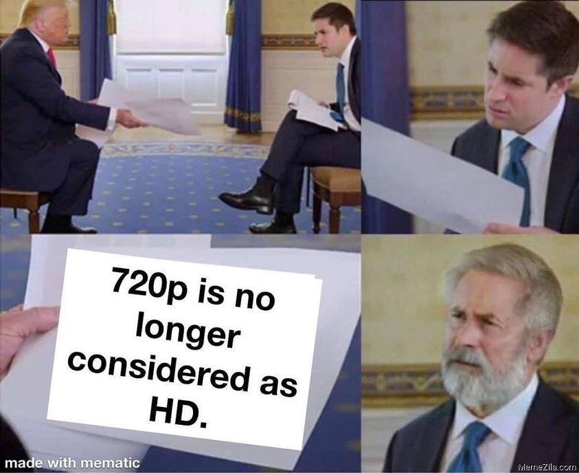 720p is no longer considered as HD meme