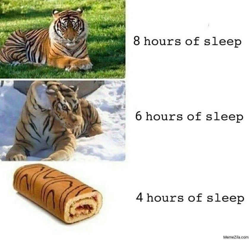 8 hours of sleep 6 hours of sleep 4 hours of sleep meme