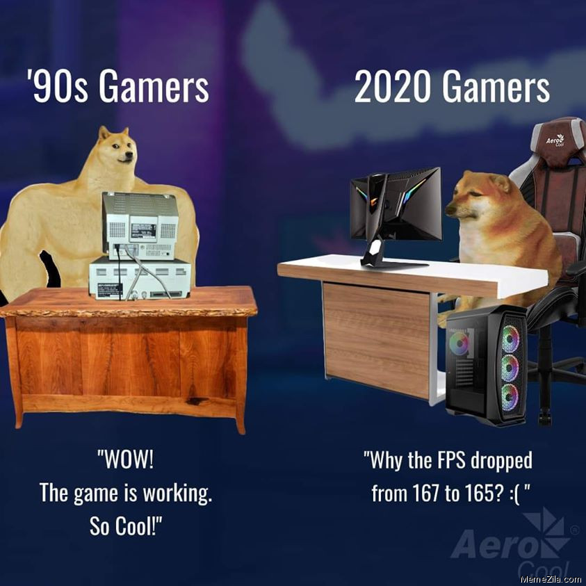 90s gamers vs 2020 gamers meme