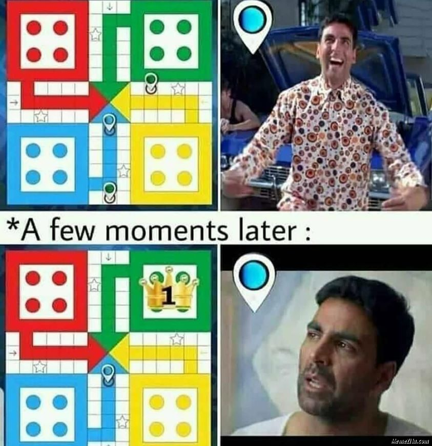 A few moments later in Ludo meme