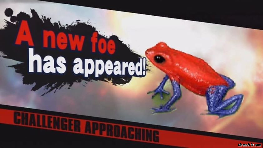 A new foe has appeared Challenger approaching meme