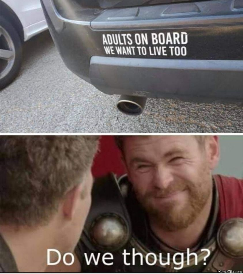 Adults on board We want to live too Do we though meme
