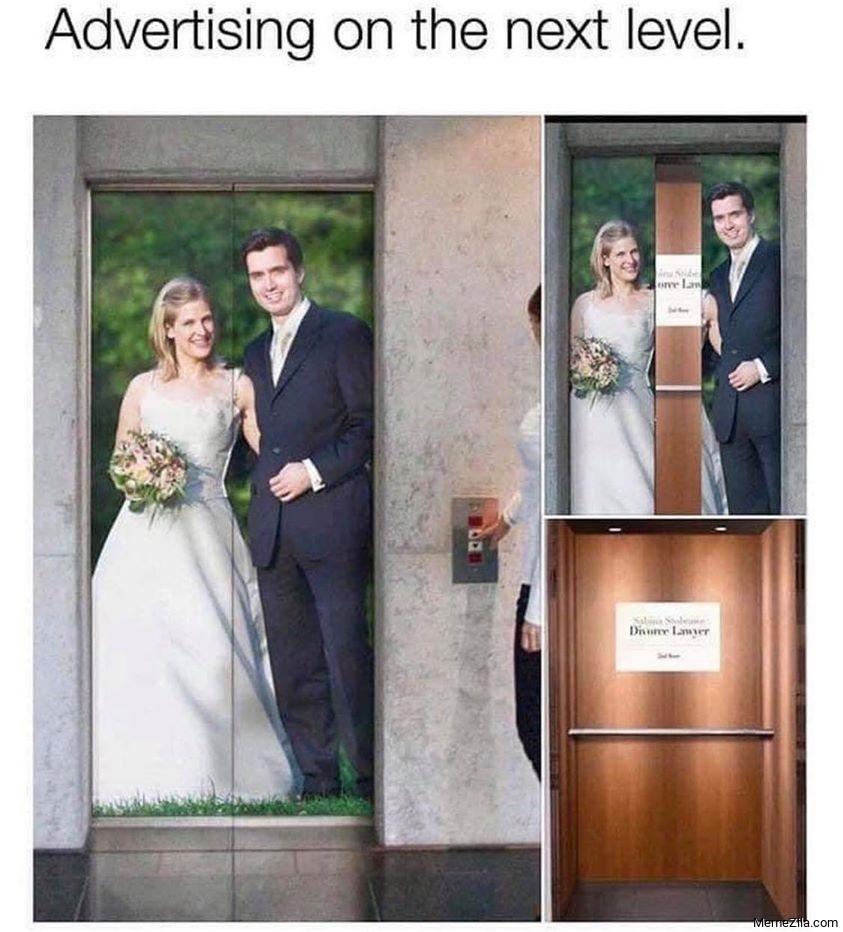 Advertising on the next level meme