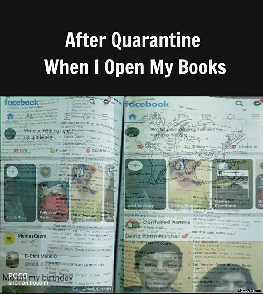 After quarantine when I open my books meme