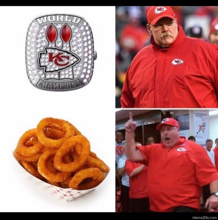 Andy Reids reaction to onion rings meme
