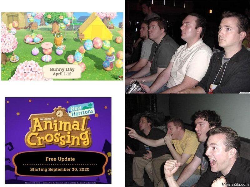 Animal crossing free update meme