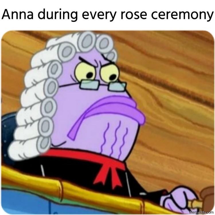 Anna during every rose ceremony meme