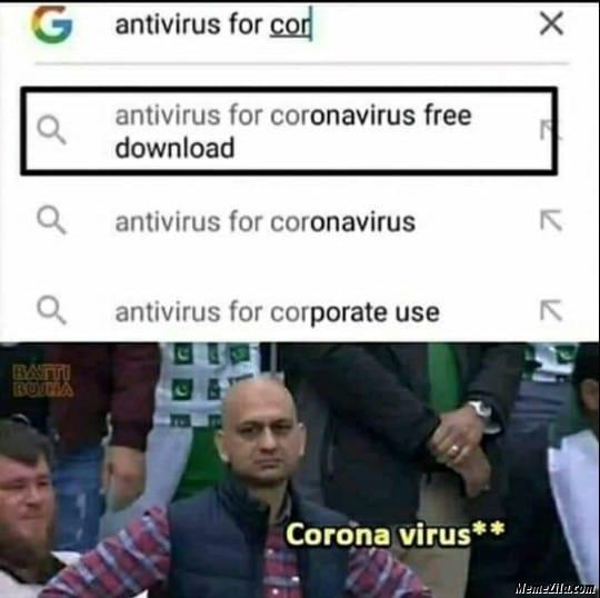 Antivirus for coronavirus free download meme