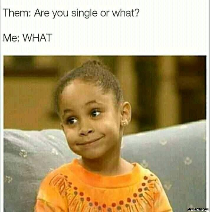 Are you single or what Me what meme