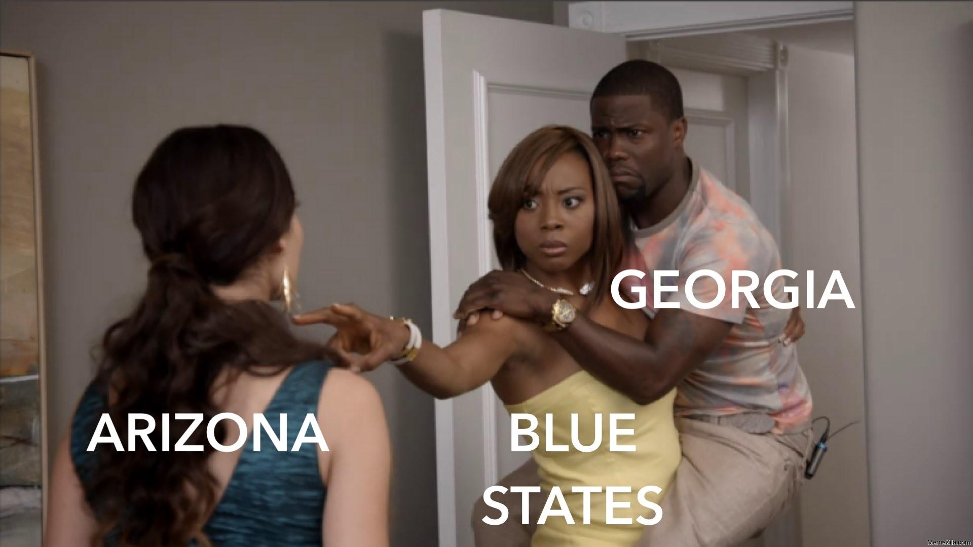 Arizona Blue states Georgia meme