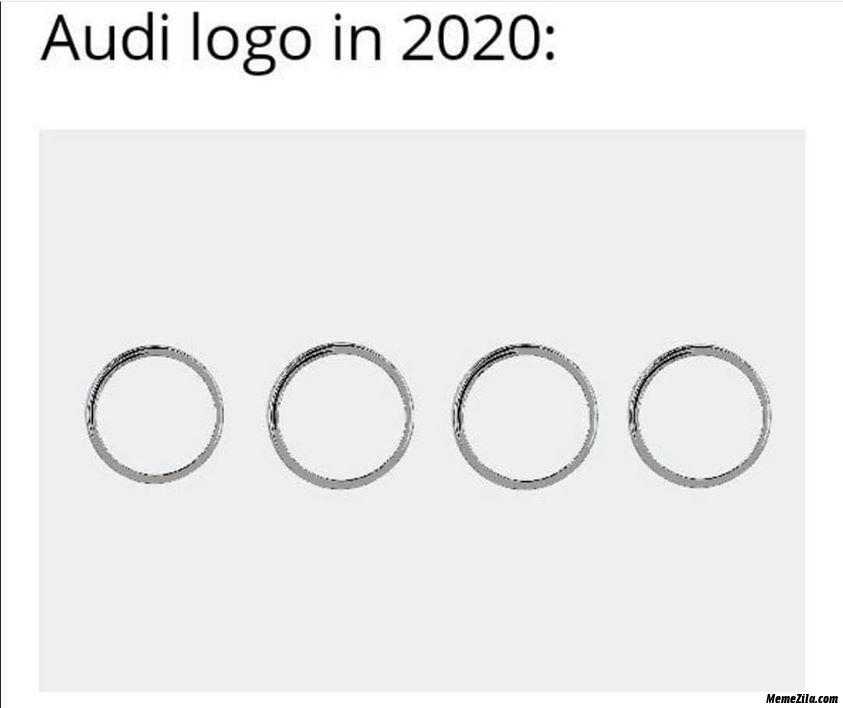 Audi logo in 2020 meme