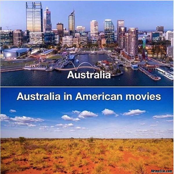 Australia vs Australia in American movies meme