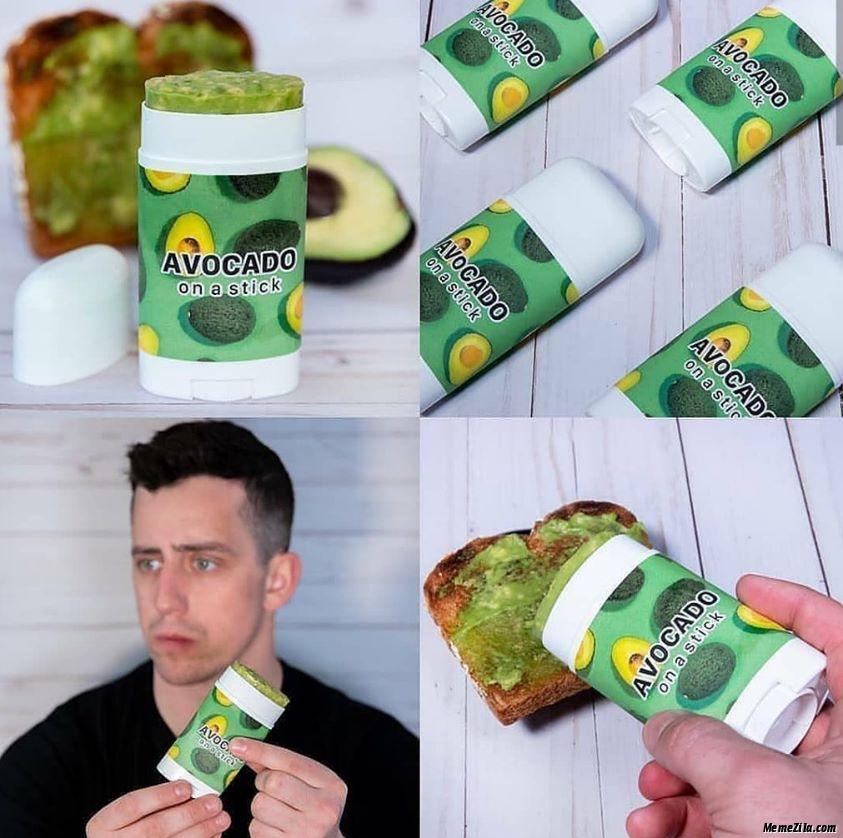 Avocado on a stick meme