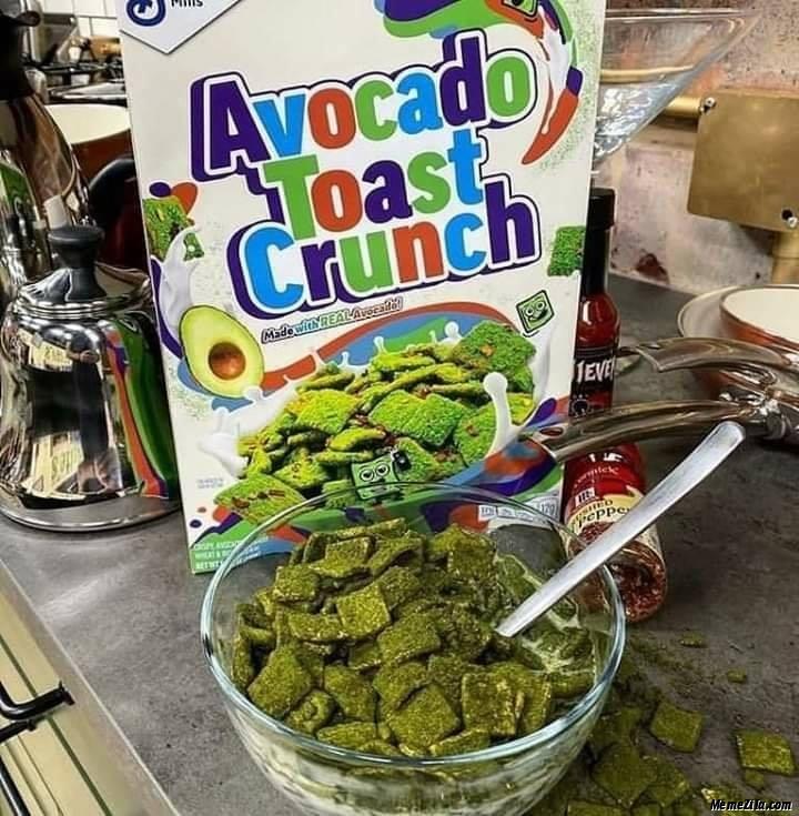 Avocado toast crunch meme