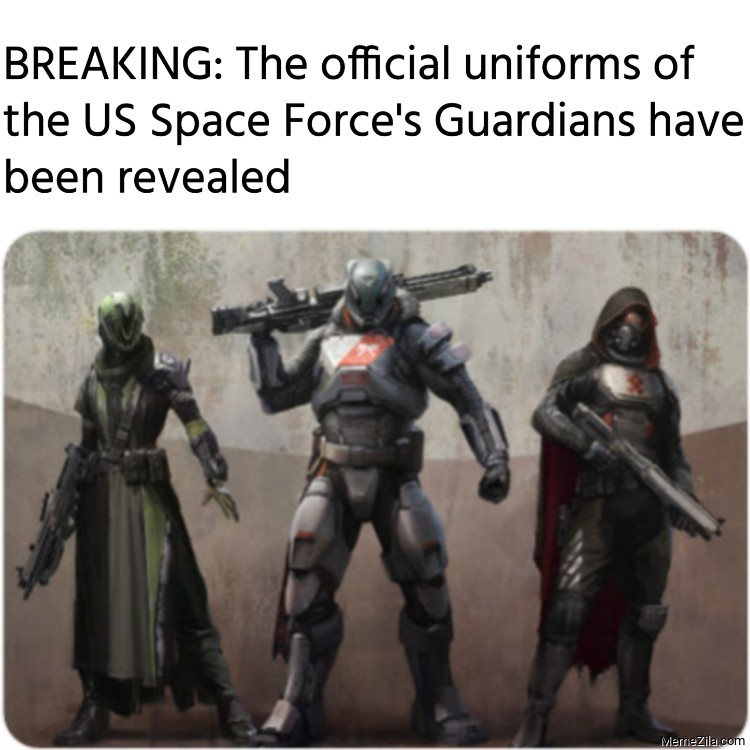 BREAKING The official uniforms of the US Space Forces Guardians have been revealed meme