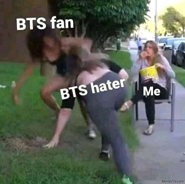BTS fan vs BTS hater Meanwhile me