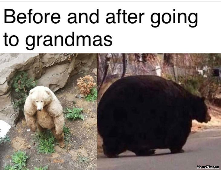 Before and after going to grandmas meme