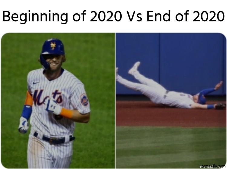 Beginning of 2020 vs End of 2020 meme