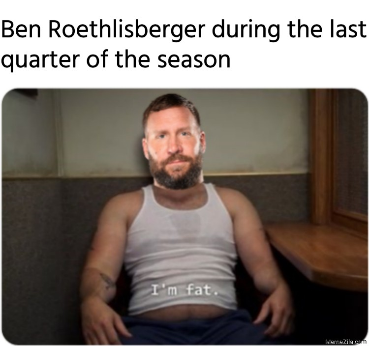 Ben Roethlisberger during the last quarter of the season meme
