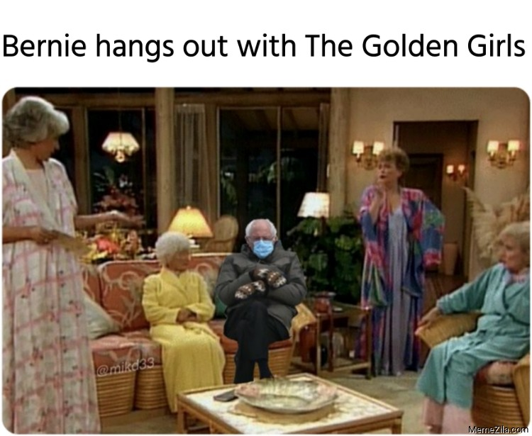 Bernie hangs out with The Golden Girls meme