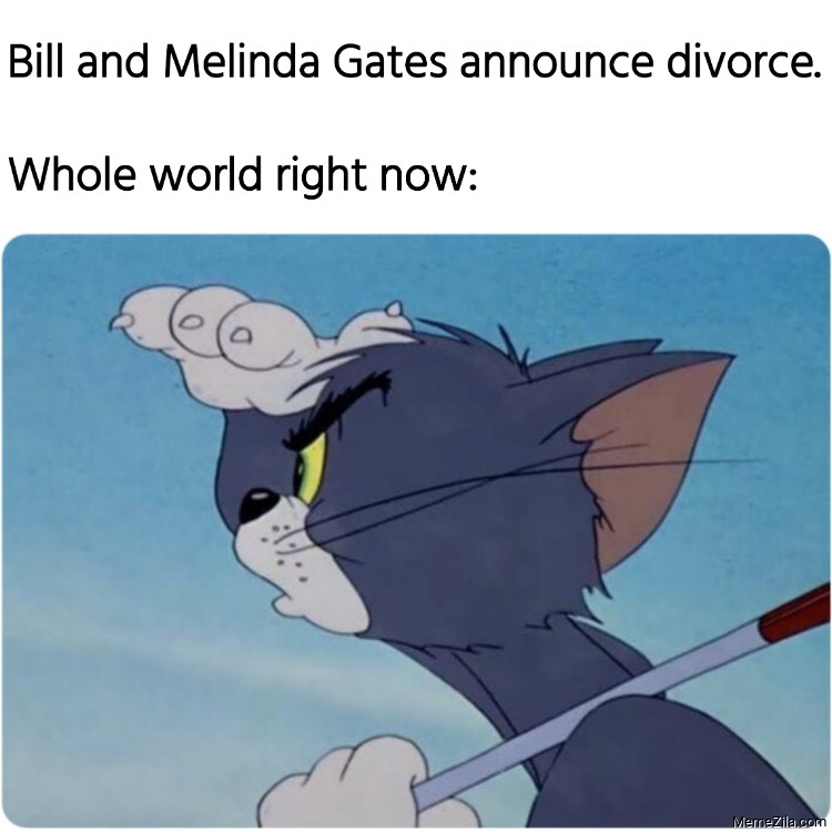 Bill and Melinda Gates announce divorce Whole world right now meme