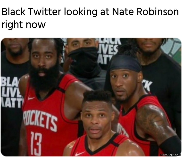 Black Twitter looking at Nate Robinson right now meme