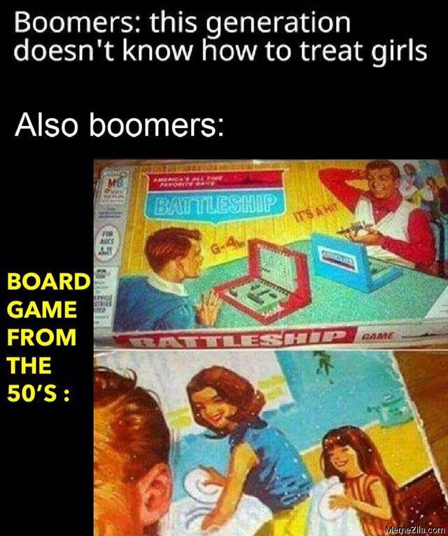 Board game from the 50s meme