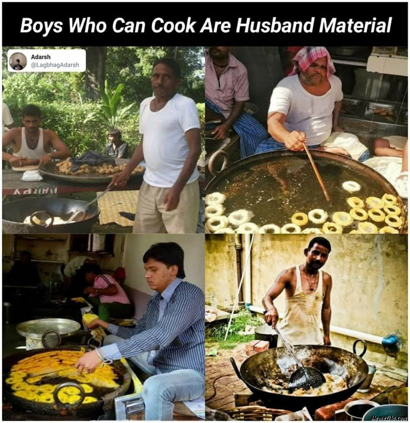 Boys who can cook are husband material meme