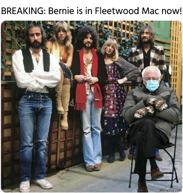 Breaking Bernie is in Fleetwood Mac now meme