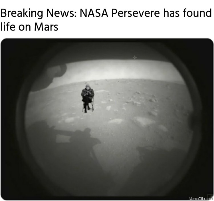 Breaking News NASA Persevere has found life on Mars meme