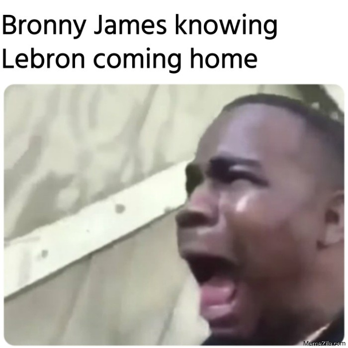 Bronny James knowing Lebron coming home meme