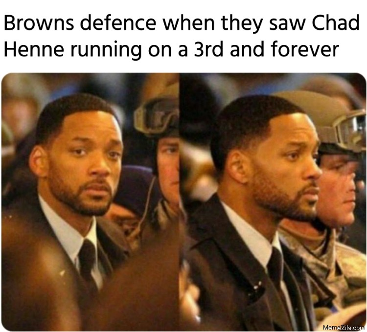 Browns defense when they saw Chad Henne running on a 3rd and forever meme
