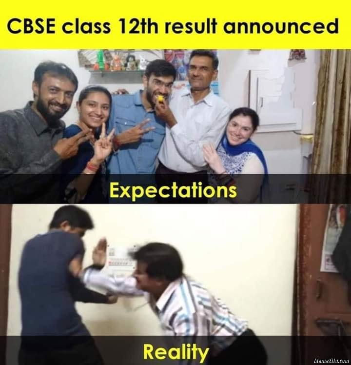 CBSE class 12th result announced meme