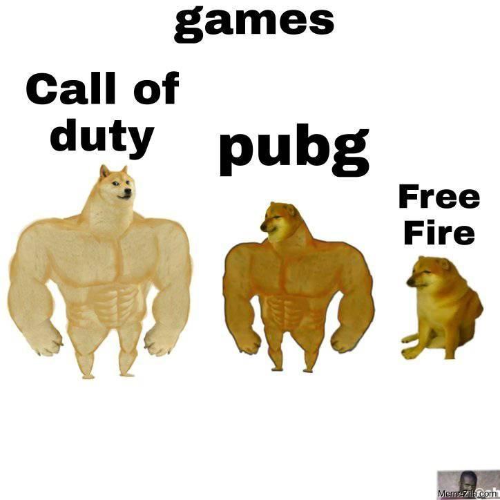 Call of duty vs Pubg vs Free fire meme