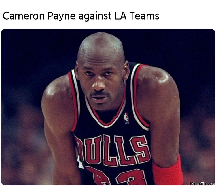 Cameron Payne against LA Teams meme