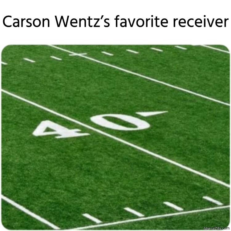 Carson Wentzs favorite receiver meme