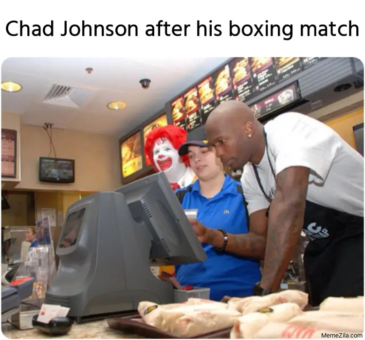 Chad Johnson after his boxing match meme