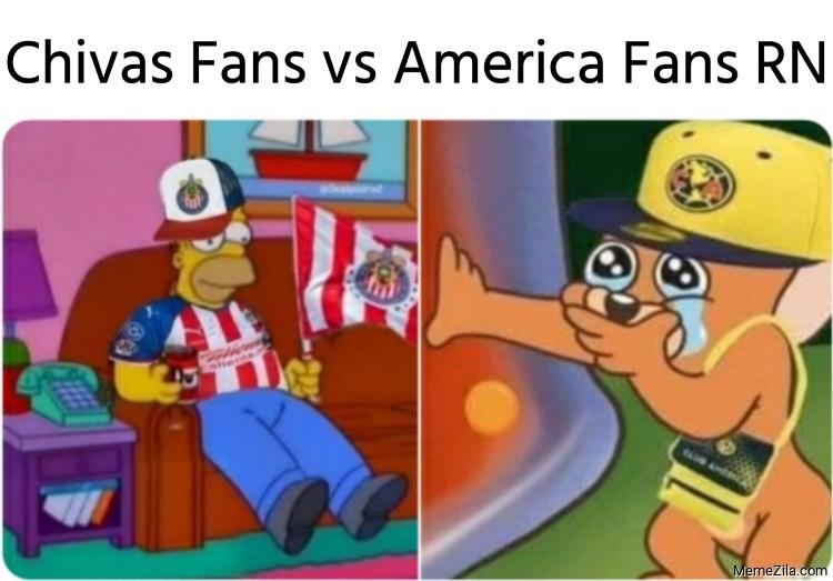 Chivas fans vs America fans RN meme