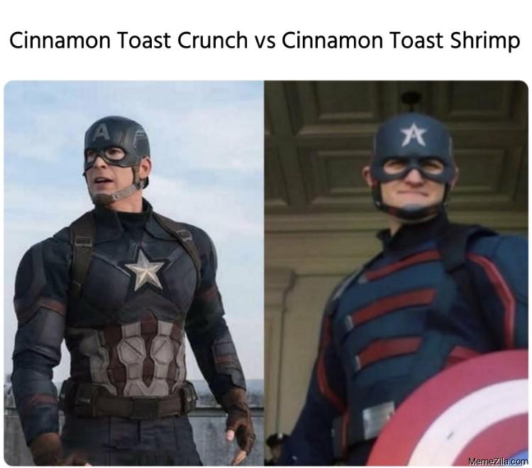 Cinnamon toast crunch vs Cinnamon toast shrimp meme