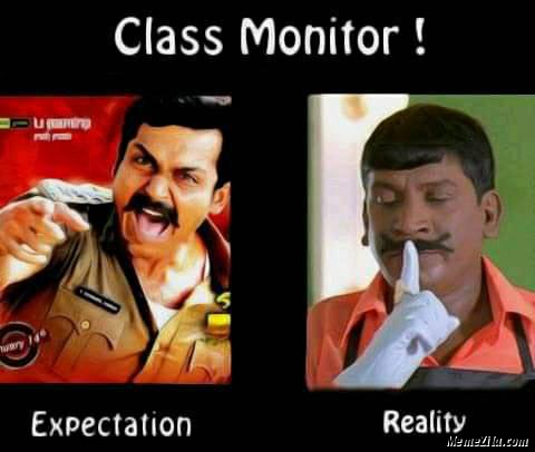 Class monitor expectation vs reality meme
