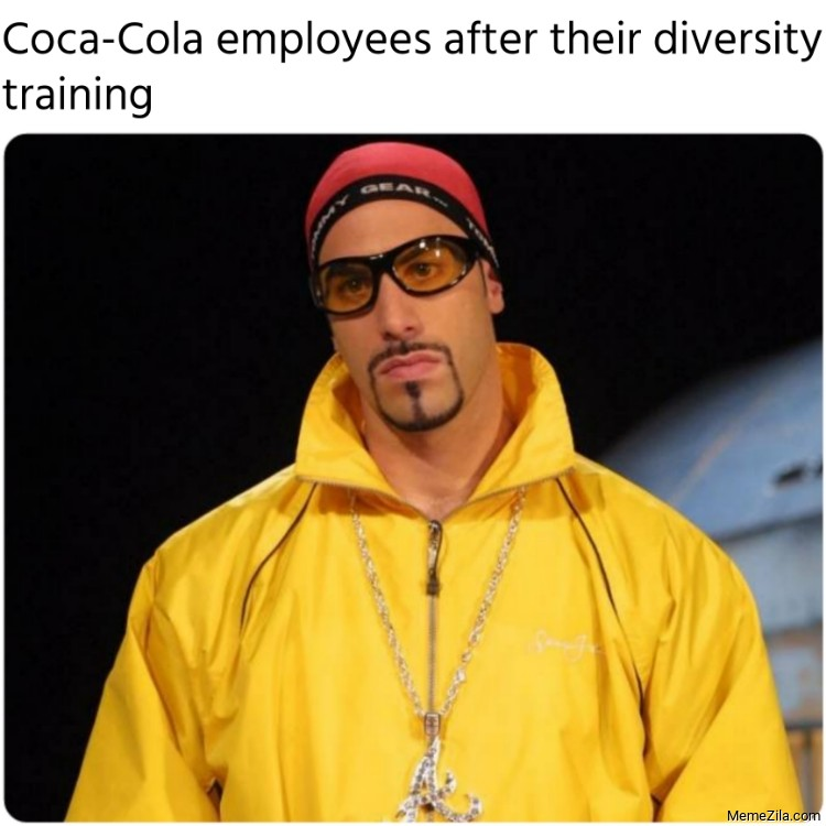 Coca-Cola employees after their diversity training meme