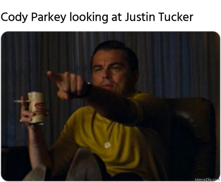 Cody Parkey looking at Justin Tucker meme