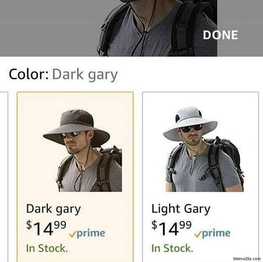 Colour Dark gary Light gary meme