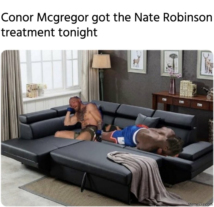 Conor Mcgregor got the Nate Robinson treatment tonight meme